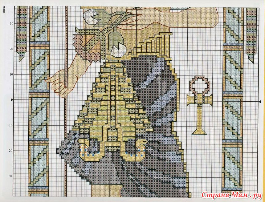 Египет схема вышивки крестом 67