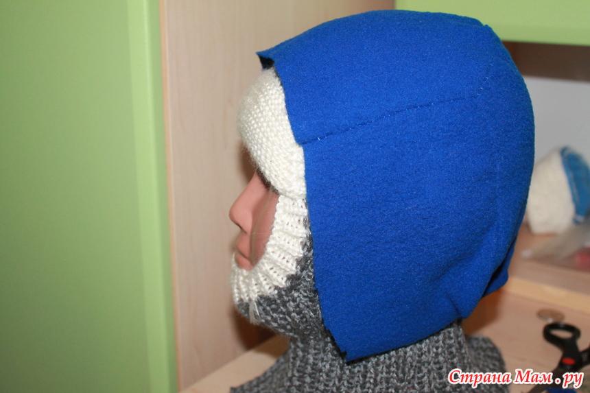 Как сшить подкладку для шапки шлема из флиса 60
