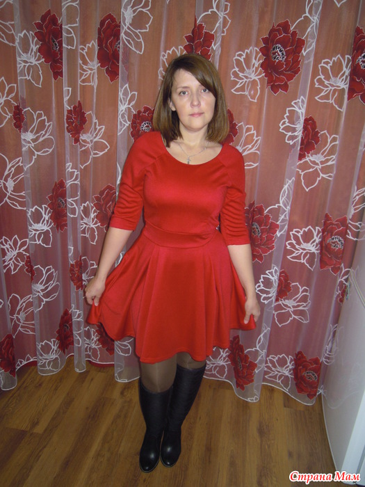 Платье с алиэкспресс красное