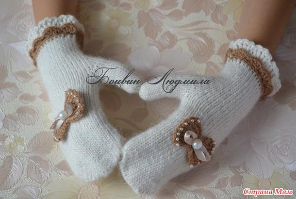 Детские варежки - схема вязания спицами. Вяжем Варежки на 38