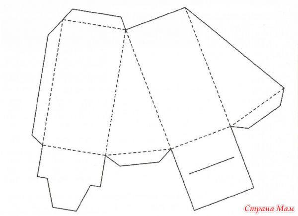 Как из бумаги сделать кусок торта из бумаги