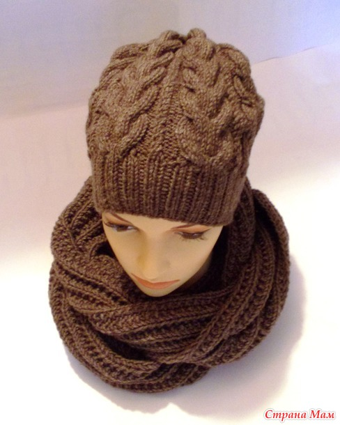Комплект : шапка и шарф-снуд