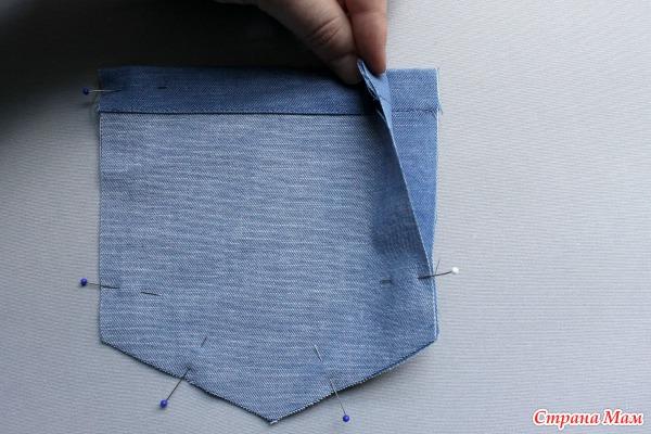 Как сделать простой карман