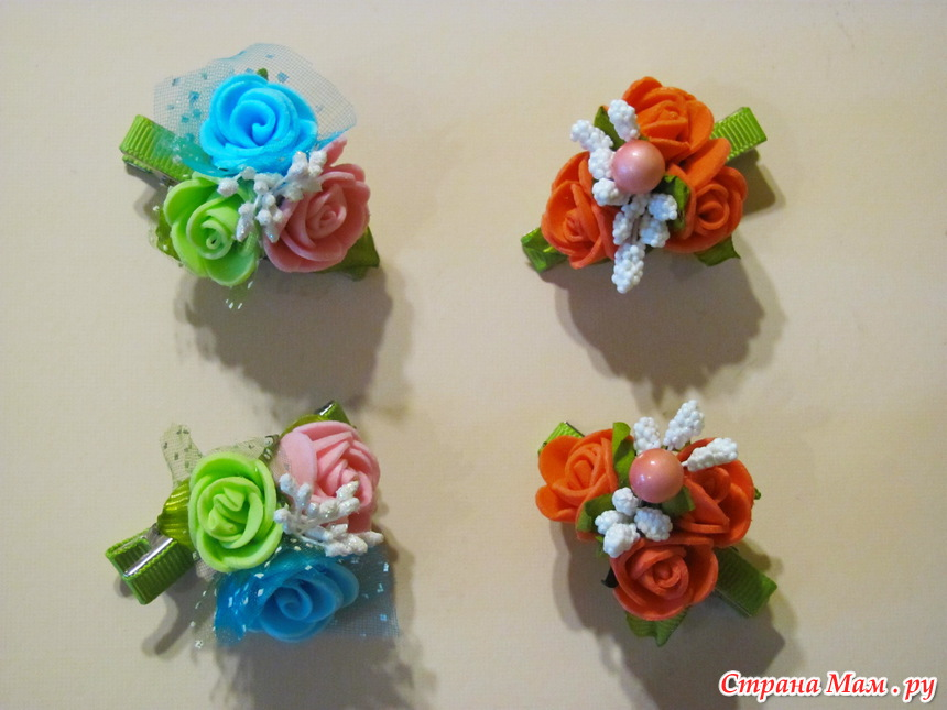 Резинка цветок своими руками 23