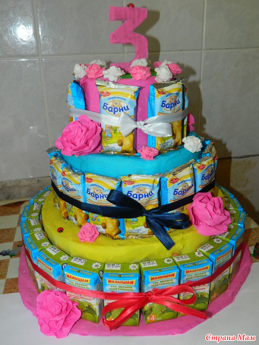 Как сделать торт из соков и барни
