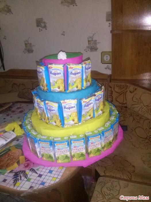 Торт из сока в детский сад своими руками 65