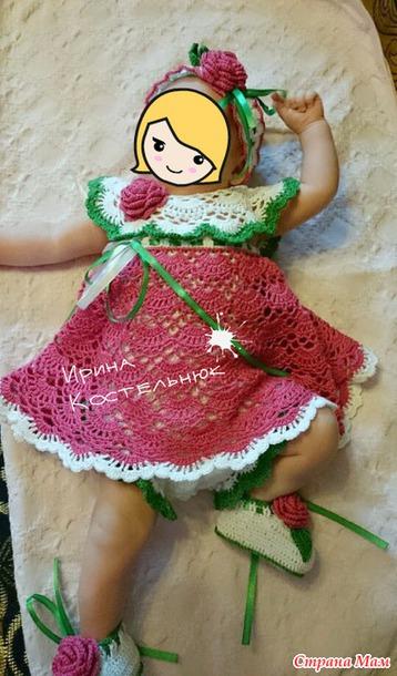 钩针婴儿套装(裙子内部是连体衣) - maomao - 我随心动
