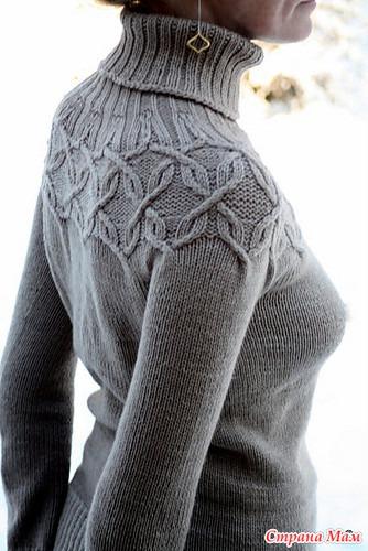 Два свитера с кокеткой аранами