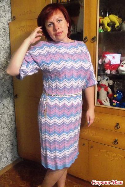 Страна мам вязание спицами платье миссони