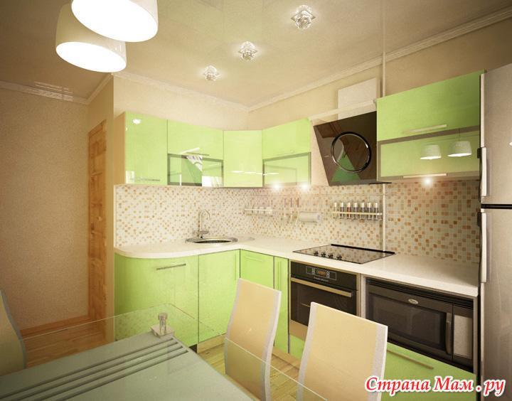 Кухни дизайн 8 метров