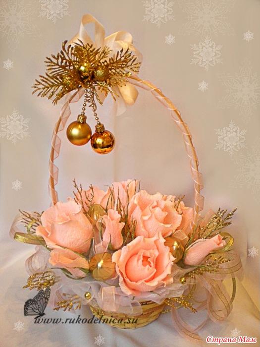 Новогодние сладкие букеты своими руками