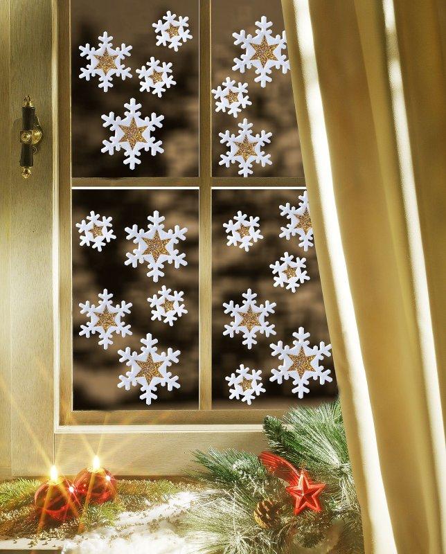 Как украсит окно к новому году своими руками