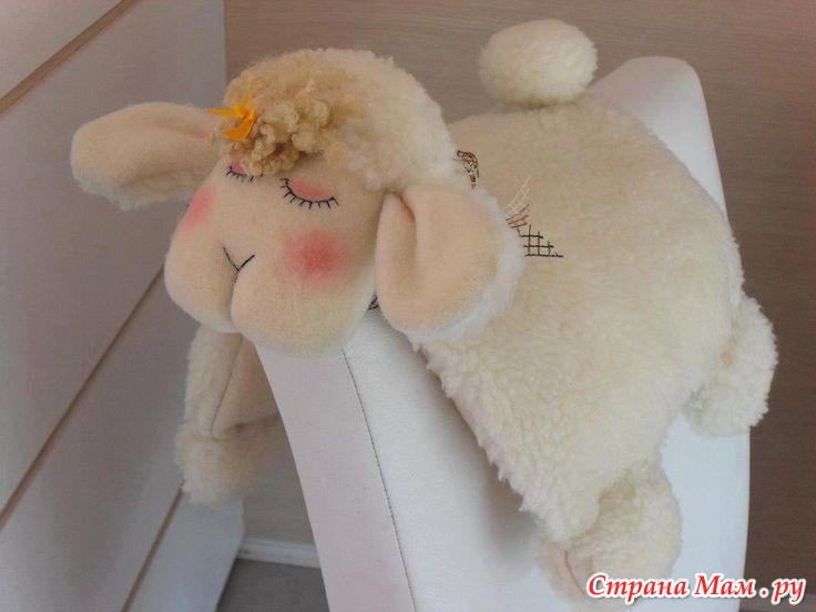 Подушка-овечка выкройка