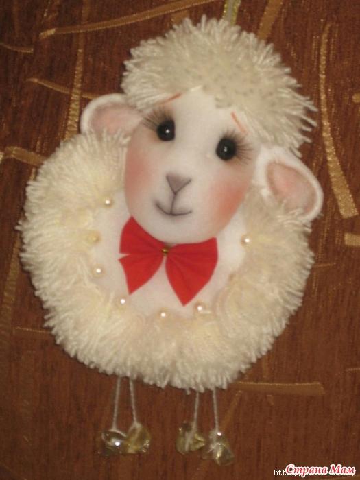 Объемная овечка своими руками
