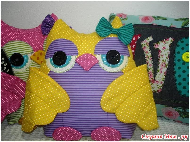 Подушка для пультов сова мастер класс