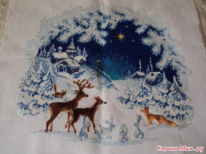 Риолис вышивка перед рождеством 73