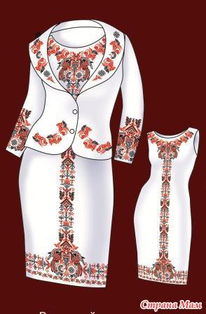 Схема для вышивания женской