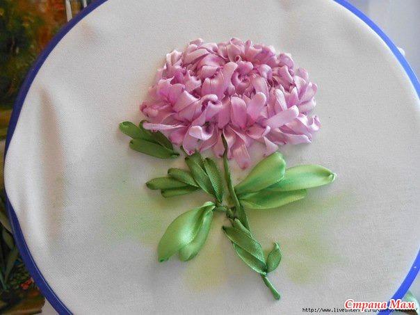 Тэги: хризантема, вышивка