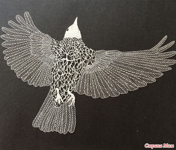 Фигуры, вырезанные из бумаги от Мод Уайт. Потрясающе красиво!!!