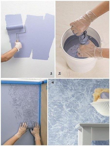 Интересная покраска стены своими руками