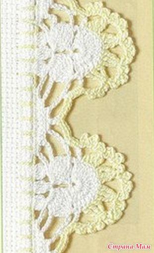 Схемы вязания ажурной каймы