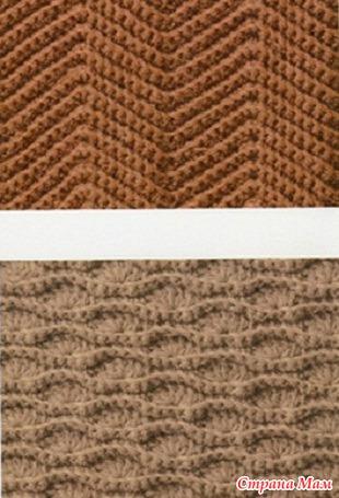 Схемы вязания плотных узоров