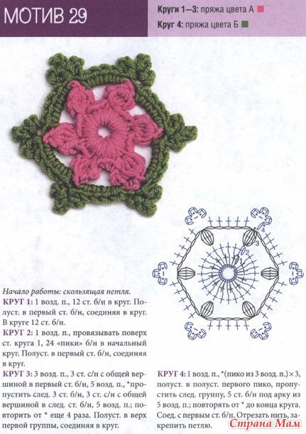 Схемы вязания из пряжи двух цветов