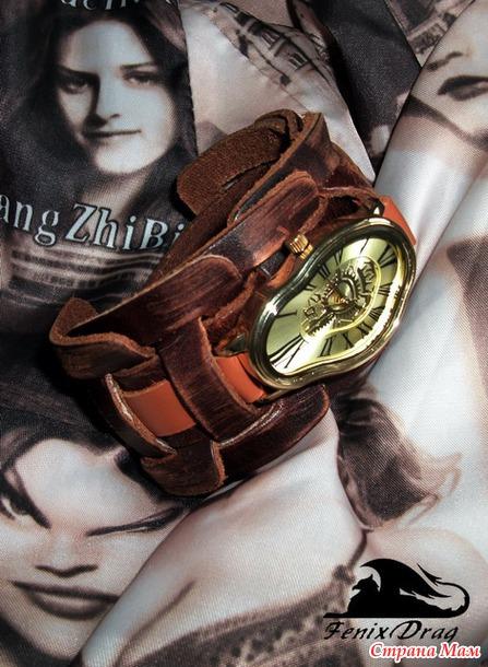 Часы браслет своими руками на кожаном ремешке