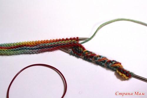 Край платочной вязкой Торнадо(перекрученная кромка). Мастер-класс