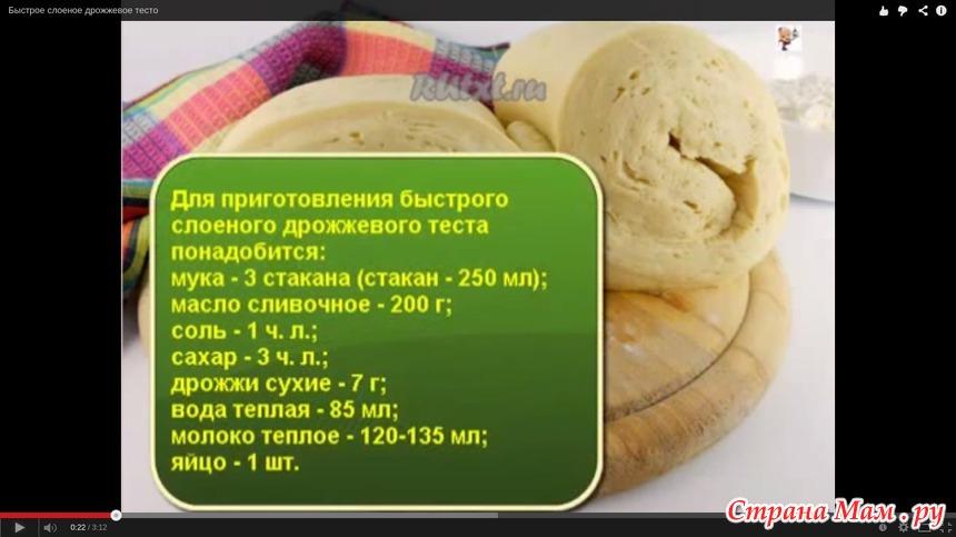 Дрожжевое тесто без молока рецепт с пошагово