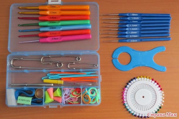 Набор для вязания крючок и спицы