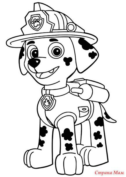Раскраска из щенячьего патруля