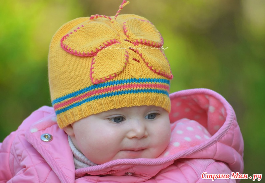 """针织帽子:""""蝴蝶"""" - maomao - 我随心动"""