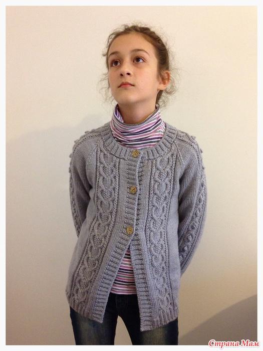 Вязание для подростков девочек кардиган 61