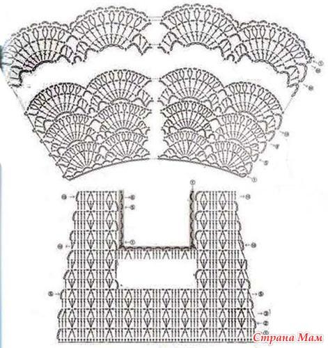 Вязание крючком для девочки сарафаны со схемами