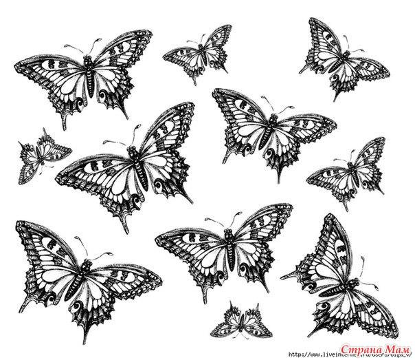 чёрно белые винтажные картинки