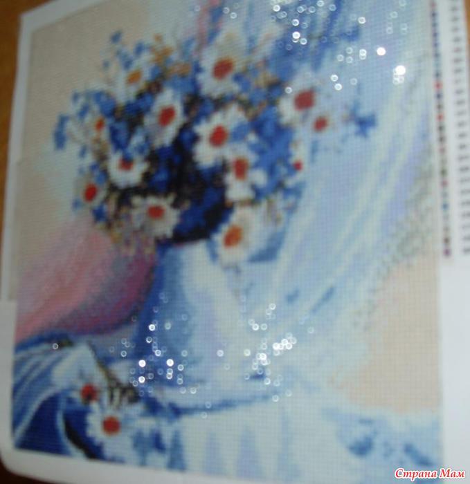 Алмазная вышивка фото ромашки