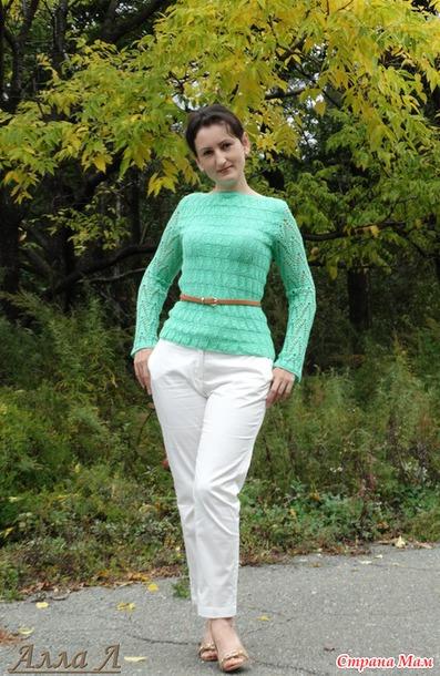 """Пуловер """"Ёлочки""""  в моем исполнении"""