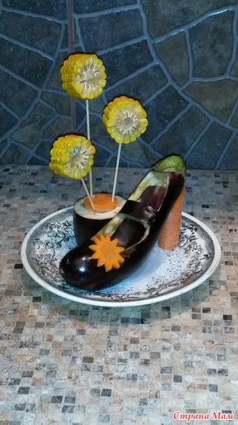 Поделки из овощей туфельки 11