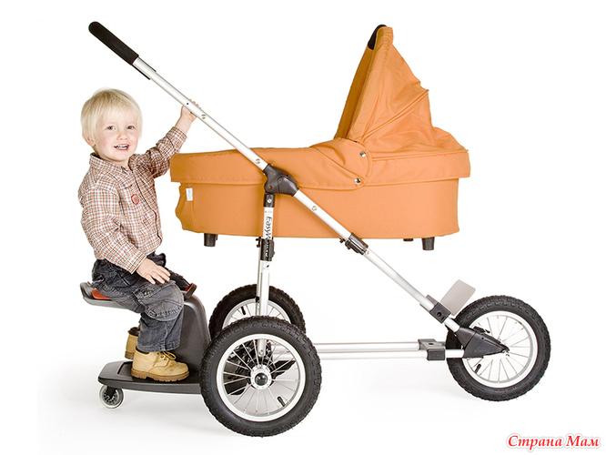 из какого материала делают подножку для детской коляски