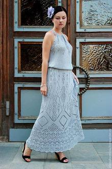 Платье крючком схемы и описания более 225 -