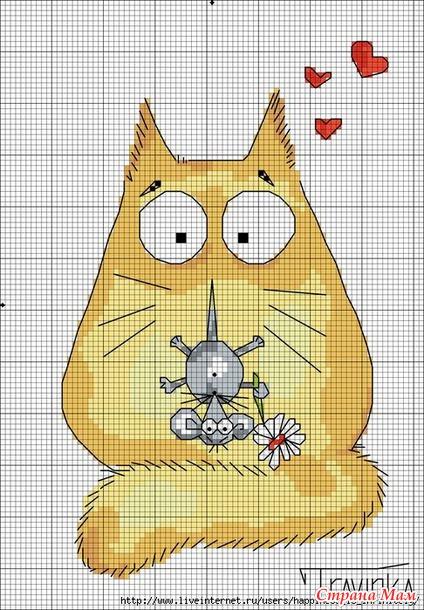 Кот вышивкой крестиком