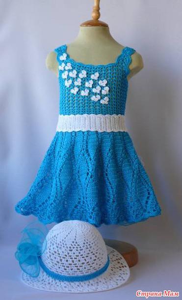Платье на ребенка крючком мастер класс