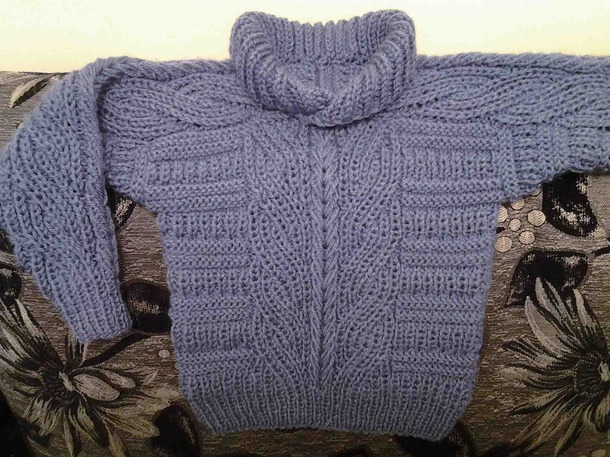 ������� ������ (Brioche Stitch Baby Sweater)