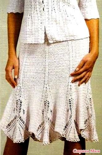 Как связать юбку с клиньями на вязальной машине