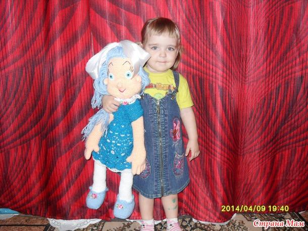 Красивая мягкая кукла своими руками
