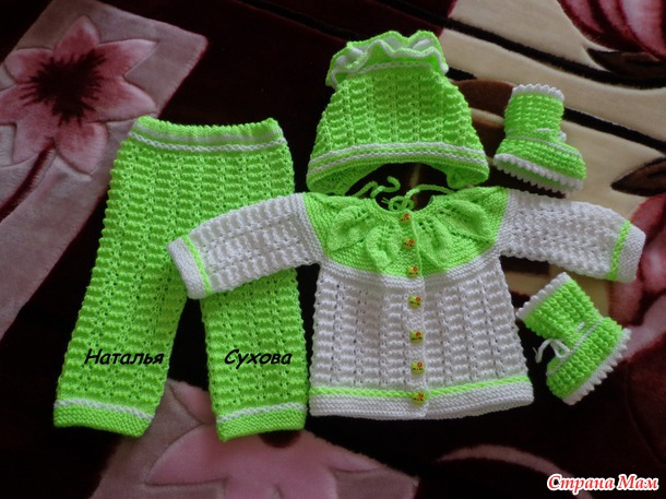 Мастер-класс вязание костюмчика для новорожденного 38