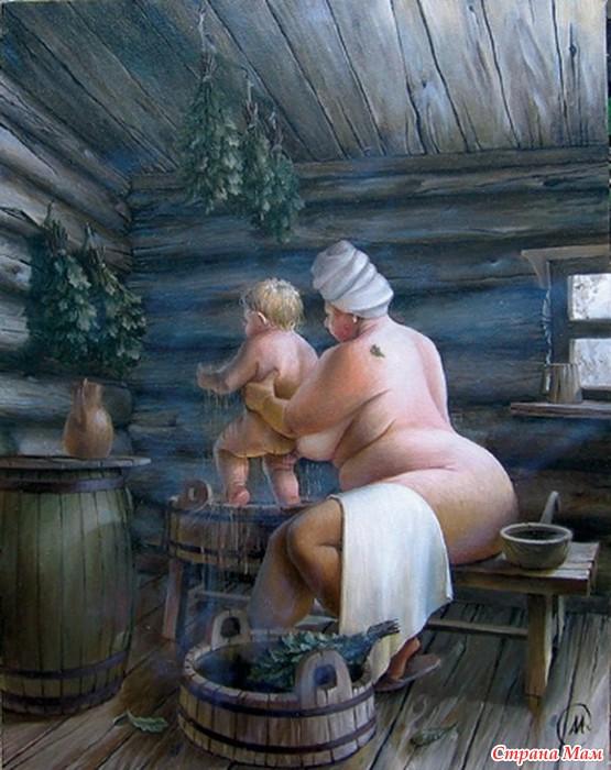 фото бабки в бане