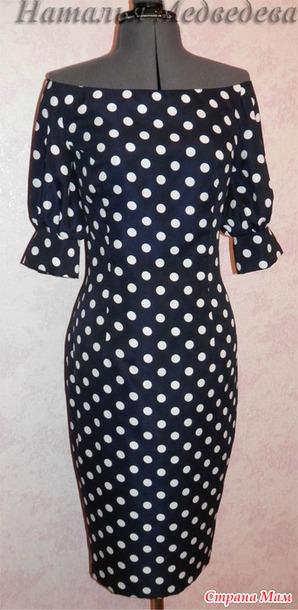 Моделирования платья с открытыми плечами