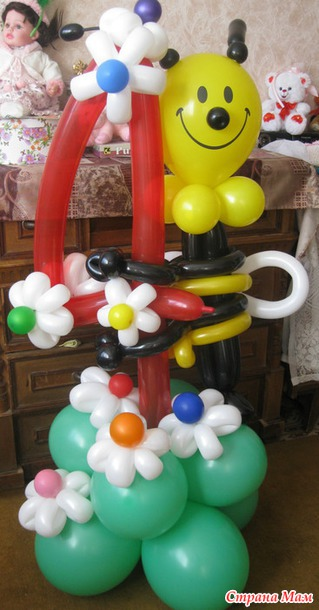 Игрушки и поделки из шаров